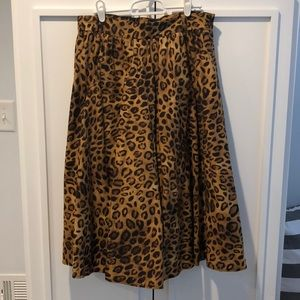 Leopard Animal Print Full Midi Skirt 8